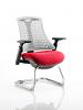 Flex White Frame Cantilever Bespoke Colour Seat Bergamot Cherry