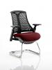 Flex Black Frame Cantilever Bespoke Colour Seat Ginseng Chilli