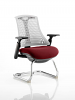 Flex White Frame Cantilever Bespoke Colour Seat Ginseng Chilli