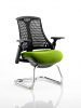Flex Black Frame Cantilever Bespoke Colour Seat Myrrh Green