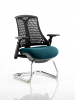 Flex Black Frame Cantilever Bespoke Colour Seat Maringa Teal