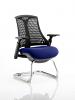 Flex Black Frame Cantilever Bespoke Colour Seat Stevia Blue