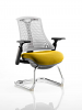 Flex White Frame Cantilever Bespoke Colour Seat Senna Yellow