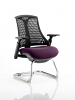 Flex Black Frame Cantilever Bespoke Colour Seat Tansy Purple
