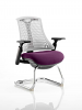 Flex White Frame Cantilever Bespoke Colour Seat Tansy Purple