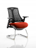 Flex Black Frame Cantilever Bespoke Colour Seat Tobasco Red