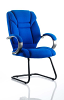 Galloway Visitor Cantilever Chair Fabric With Arms Blue