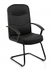 Harley Visitor Cantilever Fabric With Arms Black