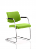 Havanna Visitor Chair Leather With Arms Myrrh Green