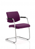 Havanna Visitor Chair Leather With Arms Tansy Purple
