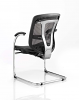 Mirage II Cantilever Chair Black Mesh With Arms Back