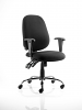 Lisbon Task Operator Chair Black Fabric