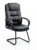 Moore Visitor Cantilever Chair With Arms Black