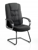 Moore Visitor Cantilever Chair With Arms Charcoal