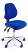 Juno Chrome Medium Back Operator Chair - Blue2