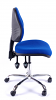 Juno Chrome Medium Back Operator Chair - Blue1