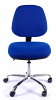 Juno Chrome Medium Back Operator Chair - Blue3