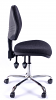 Juno Chrome Medium Back Operator Chair - Charcoal1