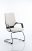 Xenon Visitor Cantilever Chair White Leather