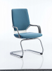 Xenon Visitor Cantilever Chair Blue Fabric
