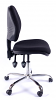 Juno Chrome Medium Back Operator Chair -Black1