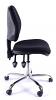 Juno Chrome Medium Back Operator Chair -Black1