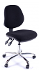Juno Chrome Medium Back Operator Chair -Black2