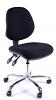 Juno Chrome Medium Back Operator Chair -Black2