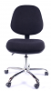 Juno Chrome Medium Back Operator Chair -Black3