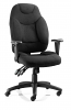 Galaxy Task Operator Chair Black Fabric With Arms Black