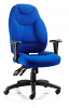 Galaxy Task Operator Chair Black Fabric With Arms Blue