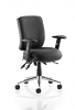 Chiro Medium Back Task Operators Chair Black With Arms