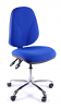 Juno Chrome High Back Operator Chair - Blue2