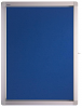 Display case ECO Outdoor, 4 x DIN A4, 53 x 70.4 x 4.5 cm, felt, blue