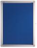 Display case ECO Outdoor, 4 x DIN A4, 53 x 70.4 x 4.5 cm, felt, blue