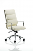 Savoy Executive Leather With Arms White