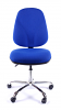 Juno Chrome High Back Operator Chair - Blue3