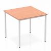 Impulse Straight Table 800 Box Frame Leg Silver Beech