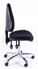 Juno Chrome High Back Operator Chair - Charcoal1