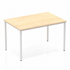 Impulse Straight Table 800 Box Frame Leg Silver Maple