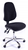 Juno Chrome High Back Operator Chair - Charcoal2