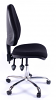 Juno Chrome High Back Operator Chair - Black1