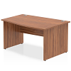 Impulse 1400 Right Hand Wave Desk Walnut