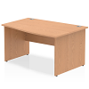 Impulse 1400 Right Hand Wave Desk Oak