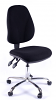 Juno Chrome High Back Operator Chair - Black2