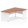 Impulse Panel End 1800 Right Hand Crescent Desk Walnut