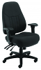 Panther 24 Hour Fabric Office Chair Black Nylon