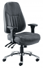Panther 24 Hour Fabric Office Chair Polished Chrome Aluminium
