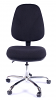 Juno Chrome High Back Operator Chair - Black3