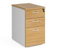 Relax Three Drawer Deluxe Desk High Pedestal